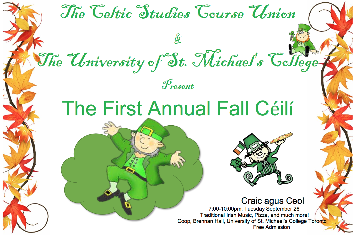 Craic agus Ceol at the First Annual Fall Ceili