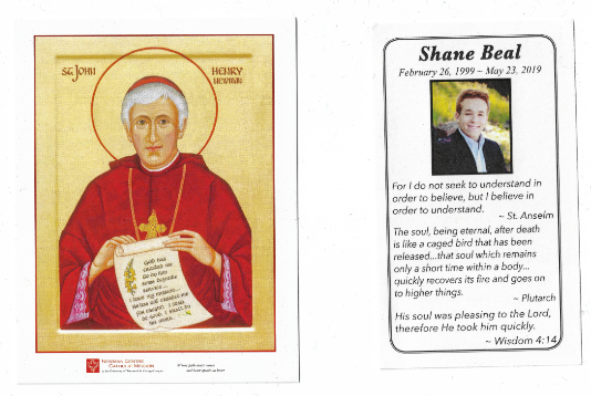 Prayer Cards: A Memorial