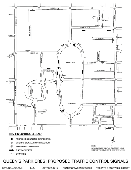 City Council Approves Three Pedestrian Crossovers on Queen's Park Crescent West